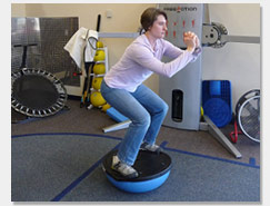 Advanced Squats on BOSU Balance Ball